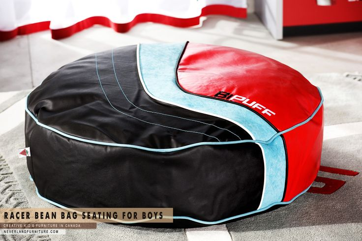 Racer Bean Bag Seating for Young Boys at Neverland Furniture in Canada  Neverland Furniture ph: 1 877 857 9609 http://neverlandfurniture.com Creative kid's furniture in CANADA  #pouf #kids #kiddesign #sidetables #olsentwins #cowhide #cowrug #rug #minimal #minimalinterior #minimalism #scandinavian #scandinaviandesign #bean #home #interieur #neverlandfurniture #furnitureforkids #coolfurniture #bedroomaccessories #accessories #forkids #bedroom #PoufforYoungBoys