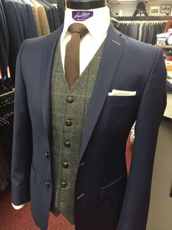 tweed waistcoat navy suit - Google Search