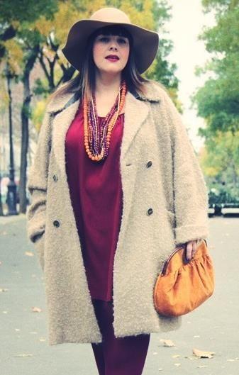 Фасон пальто для полной женщины
