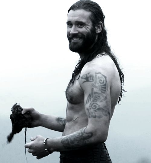 Rollo from History Channel's Vikings. Not a real Viking, but he plays one on TV. And he is a perfect Viking!