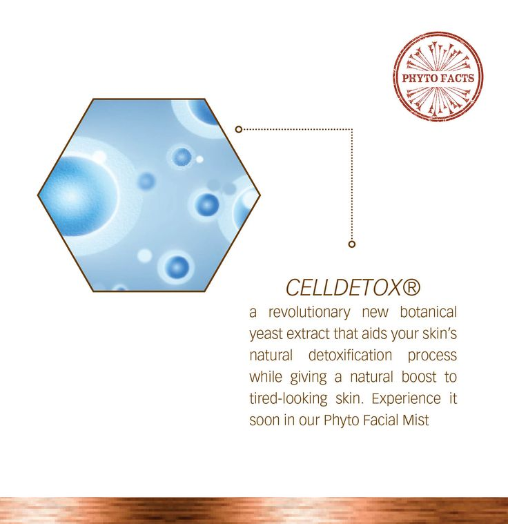 CellDetox - the revolutionary new phyto ingredient  in our soon to be released Phyto Facial Mist.