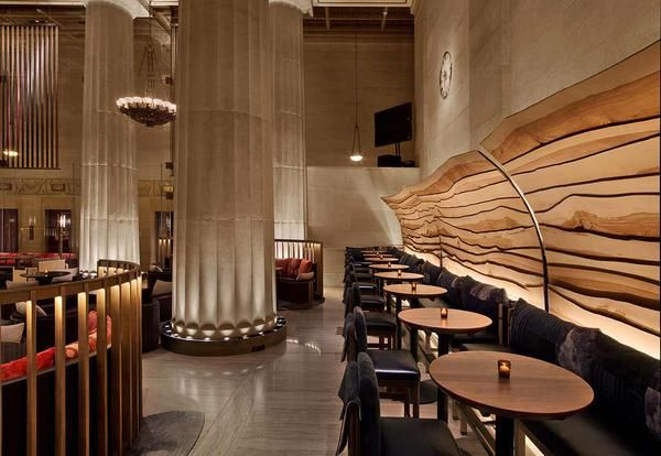 New japanese restaurant Nobu Dowtown in NYC by David Rockwell - Elle Decor Italia