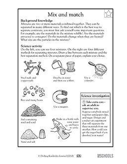 3rd grade 4th grade science worksheets separating mixtures worksheets. Black Bedroom Furniture Sets. Home Design Ideas