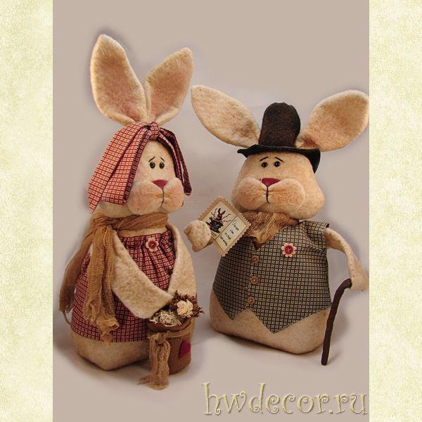 Примитивная кукла (комплект) Мистер и Миссис Купер