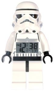 """Å vokne har aldri vært så morsomt! Bli vekket av din favoritt STAR WARS™ karakter - og """"feel the force!"""". Perfekt gave til Star Wars og Lego Star Wars fans Lego Storm Trooper Vekkerklokke, digital klokke, Opplyst display Er ca 23cm høy Kr 279 (tilbud) KJØPT"""