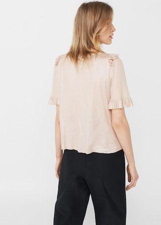 Ruffle t-shirt | MANGO