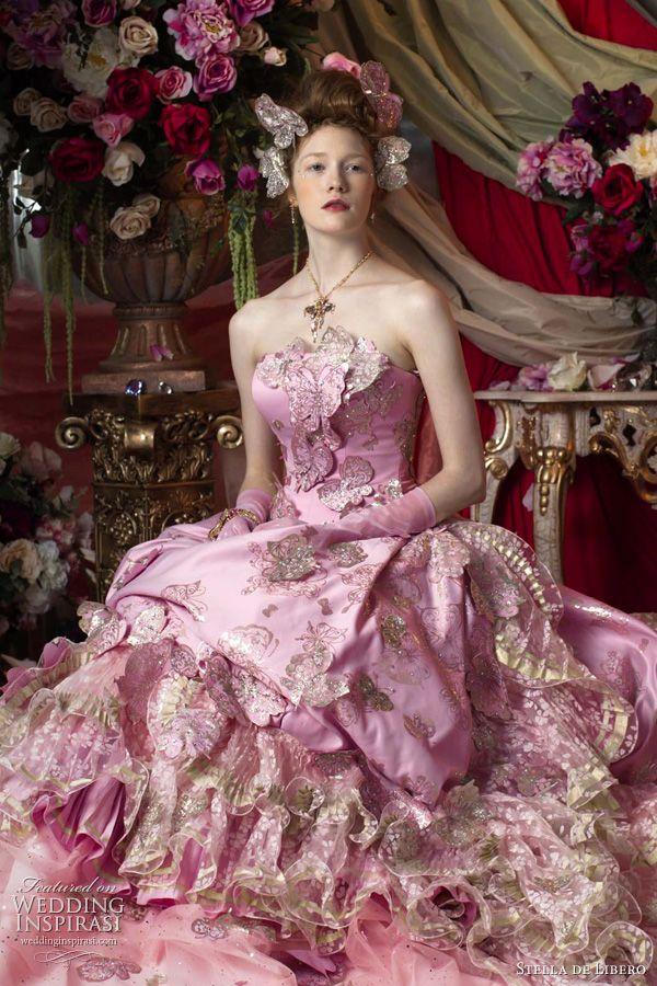 розовые свадебное платье, 2011 Стелла де либеро