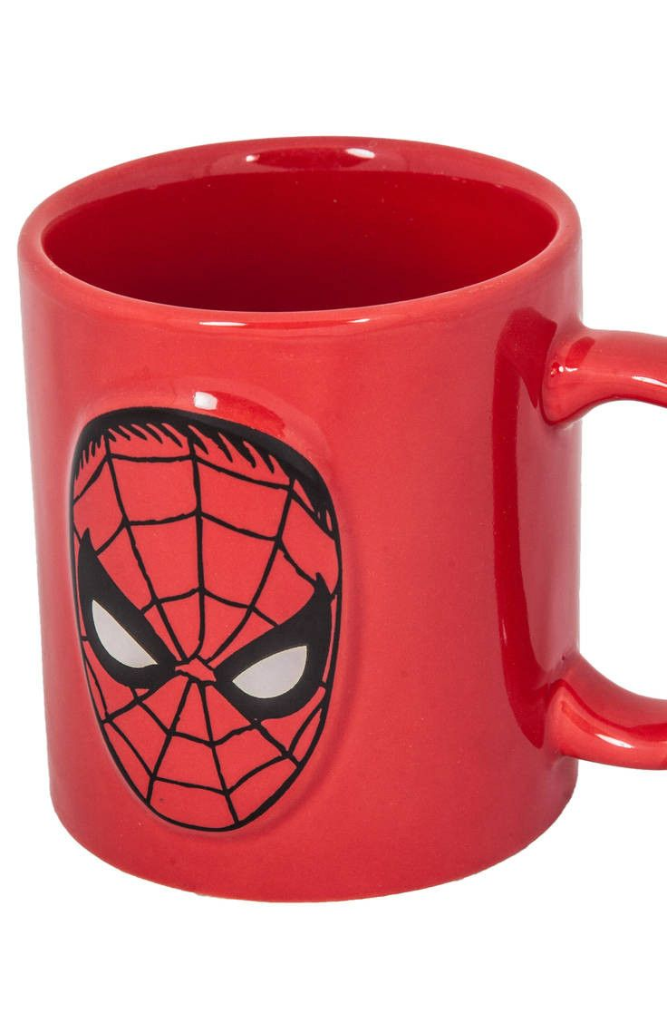 Embossed Spider-Man Mug