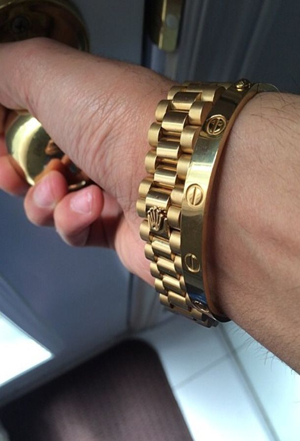 Emmy De Cartier Love Bracelet Meets Rolex Men S Rings And Bracelets In 2018 Pinterest Jewelry Watches
