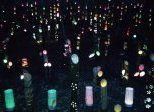 塩原温泉中心街に竹灯篭が並ぶ!