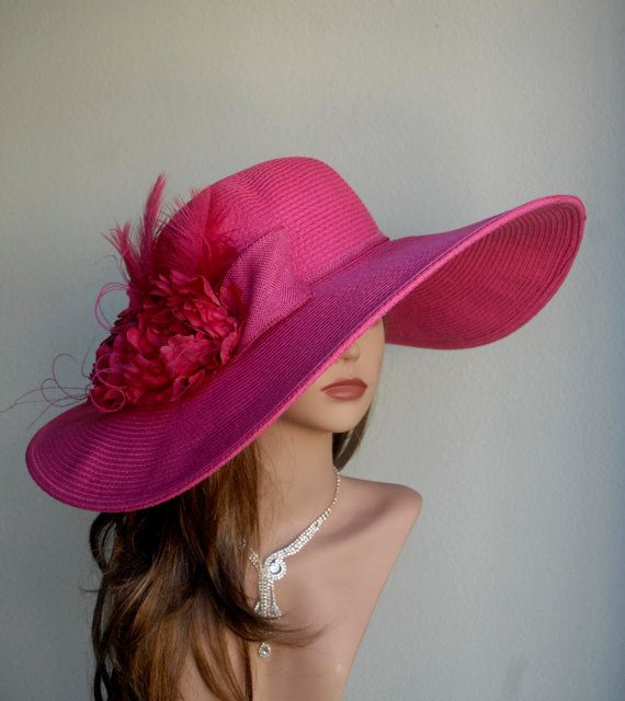 jannyshere Kentucky Derby Hat Santa Barbara, white/hot pink Playful Pink ; Collect Collect this now for later. Dittekarina Hot Pink Fascinator Cocktail Hat Kentucky derby hat by ArturoRios Fashion. Collect Collect this now for later. candy.