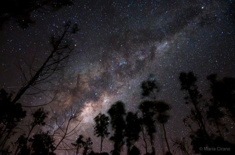 The Milky Way above San José, Algarrobo