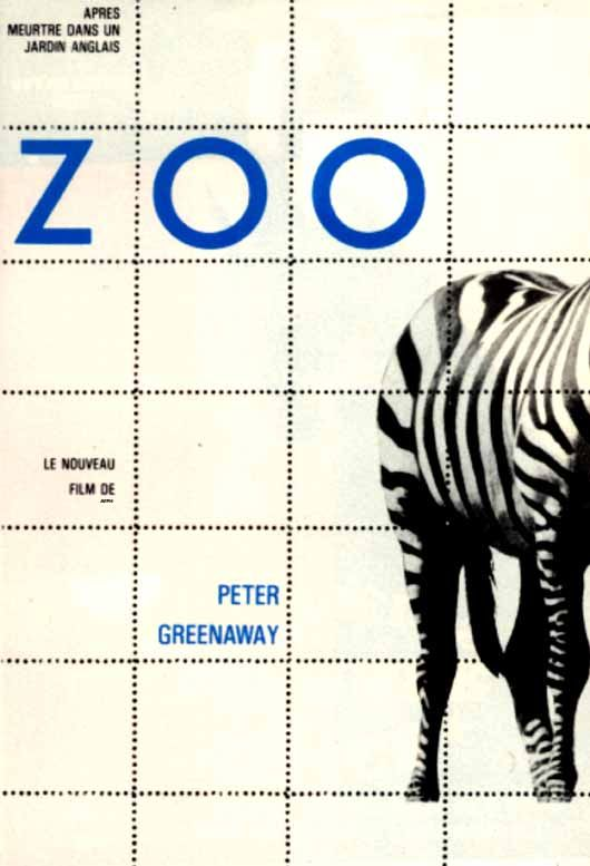 """poster for """"Zed & Two Noughts, A"""" by Peter Greenaway (1985)"""