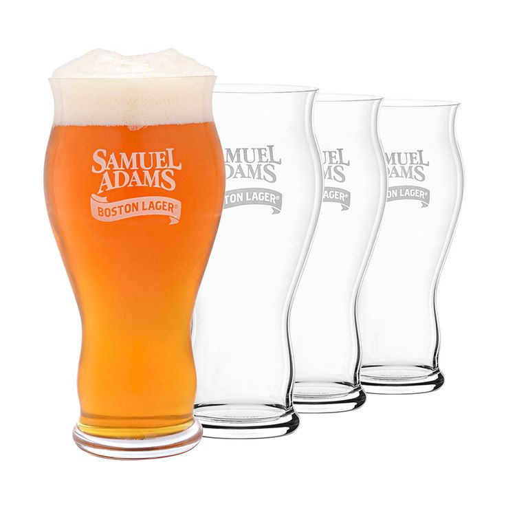 These officially licensed beer glasses are engineered by Spiegelau to create the best possible drinking experience for your next Samuel Adams Boston Lager.