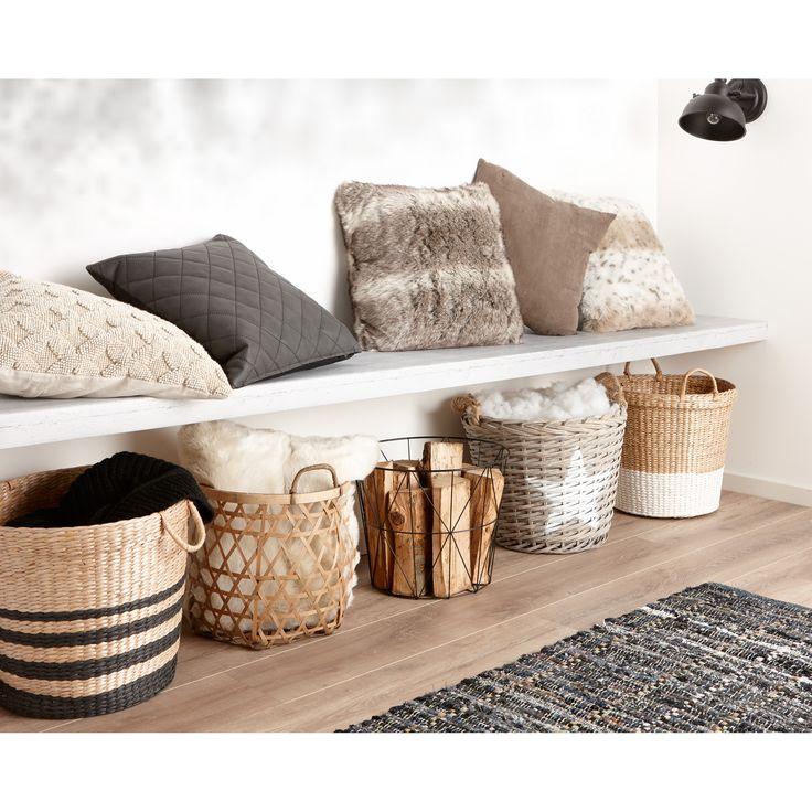 Deze manden zijn ideaal om jouw zachte kussens en warme plaids in op te bergen…