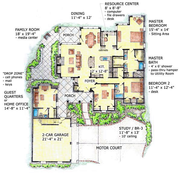 1000 images about mother in law quarters on pinterest for House plans with inlaw quarters