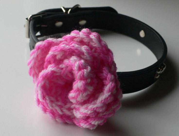 Dog Collar Flower, Flower for Dog Collar, Girl Dog Accessories, Pet Accessories, Dog Collar Accessory, Crochet Flower by CTDESIGNSBESPOKEBAGS on Etsy