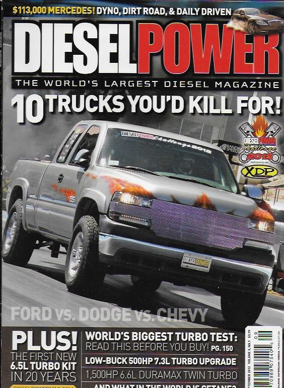 Diesel Power magazine Best trucks Turbo test Low buck upgrade Duramax twin turbo