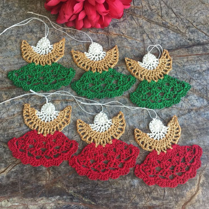 A personal favorite from my Etsy shop https://www.etsy.com/listing/543134898/angel-set-3-ornaments-crocheted-angel