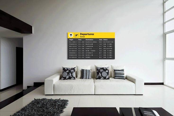 Airpart Art Muurdecoratie - Departures uitgebreid - Airpart