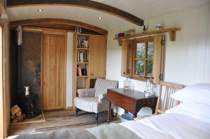 Upland Shepherd Huts Scotland, Luxury Glamping in Scotland :: The Gardeners Hut