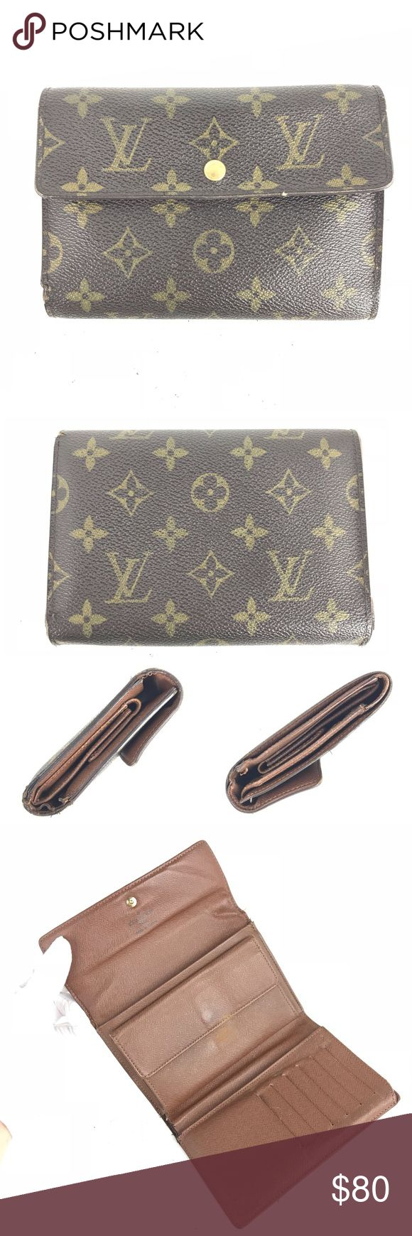 Louis Vuitton Monogram Trifold Wallet Louis Vuitton Monogram Trifold Wallet ________________________________ Item Description Made in [France] ~ Date Code [SP0065] Material [PVC/Leather] ~ Color [Monogram] _____________________________ Condition Outside [Fair] Scratches, stains, rubbing marks, canvas separation and edge wear - - - - - - - - - - - - - - - - - - - - - - - - - - - - - - Inside [Fair] Scratches, stains, rubbing marks, loose threads and stretched out pockets Louis Vuitton…