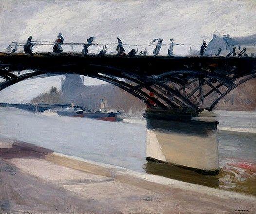 """Edward Hopper - """"Le Pont des Arts"""" (1907)  Huile sur toile (59 x 71)"""