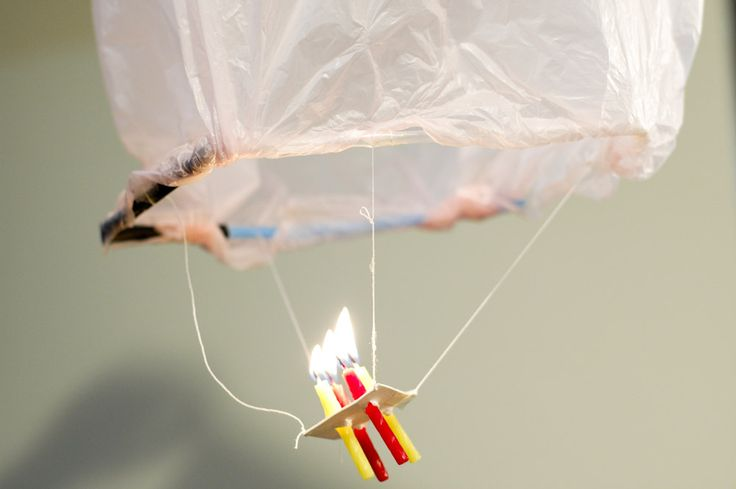 How to Make a Mini Flyable Hot Air Balloon with Candles Bear cub Scout elective 6c explain how a hot air balloon works.