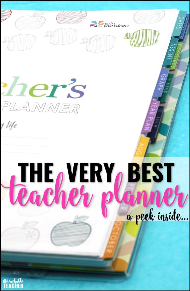 She thought of everything with this teacher lesson planner!  There's even a coupon code for Erin Condren.