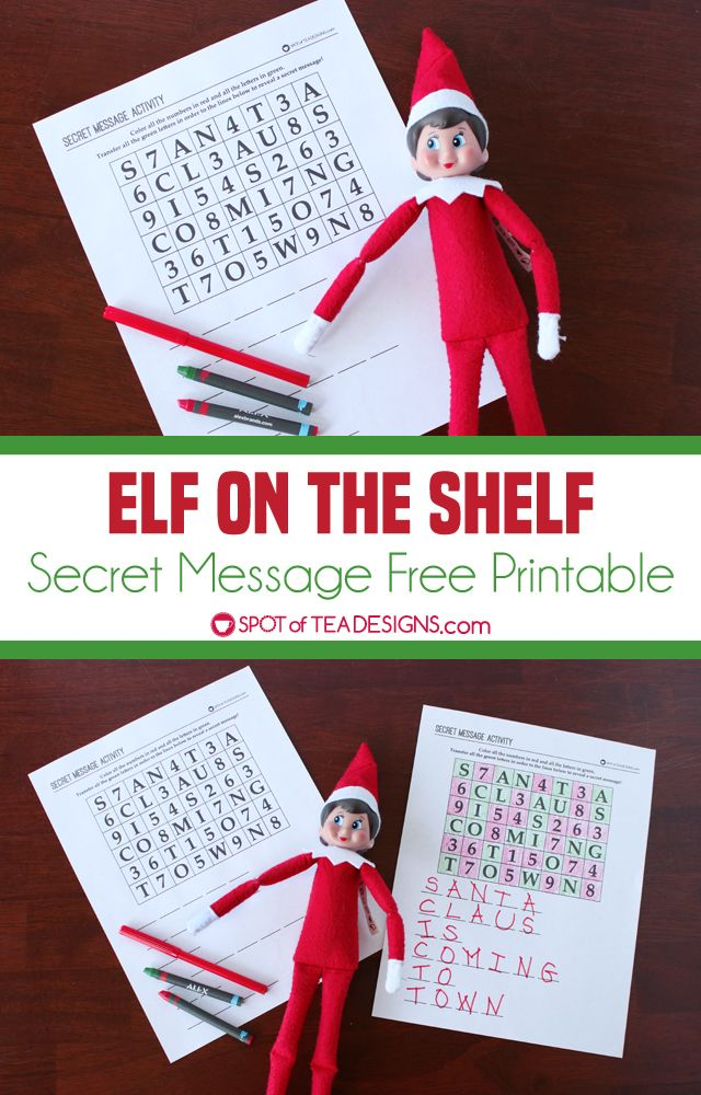 image about Elf on the Shelf Printable referred to as Elf upon the Shelf Solution Concept Printable Elf upon a Shelf