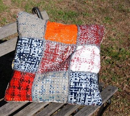 Recycled Plastic-Bag Weaving