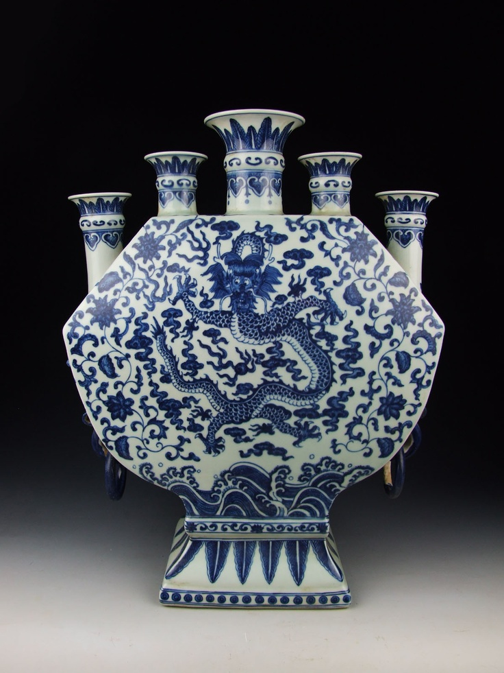 Qing Dynasty QianLong Imperial Ware Blue Underglaze Decoration (B ...