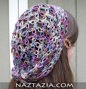 Crochet solomon hair scarf