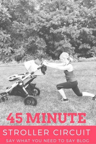 Stroller workout circuit