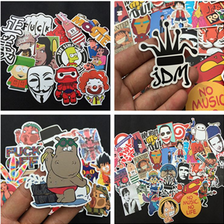 1-100pcs mixed decal Car Styling Skateboard Laptop Luggage Snowboard Car Fridge Phone DIY Vinyl Decal Motorcycle Sticker Covers