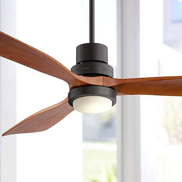 "52"" Casa Delta-Wing Bronze Outdoor LED Ceiling Fan - #9C710 