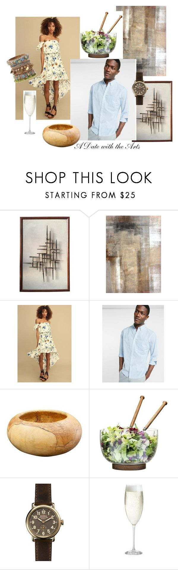 """""""A Date with the Arts"""" by glamorousmoms on Polyvore featuring Express, Sagaform, Shinola and Crate and Barrel"""