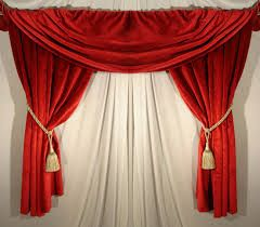Beautiful red #Curtains with golden lace