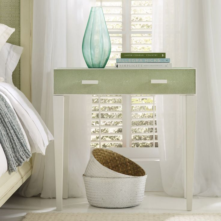 Somerset Bay Shagreen Low Country Green Bedside Table #laylagrayce