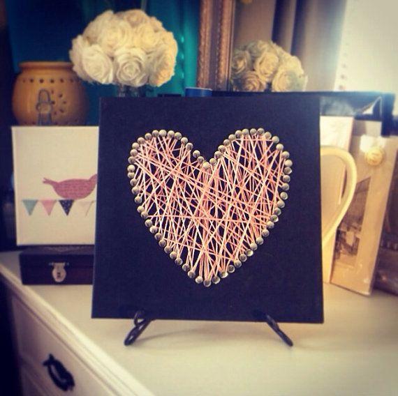 Cotton Heart on Pinboard Canvas on Etsy, $25.00 AUD