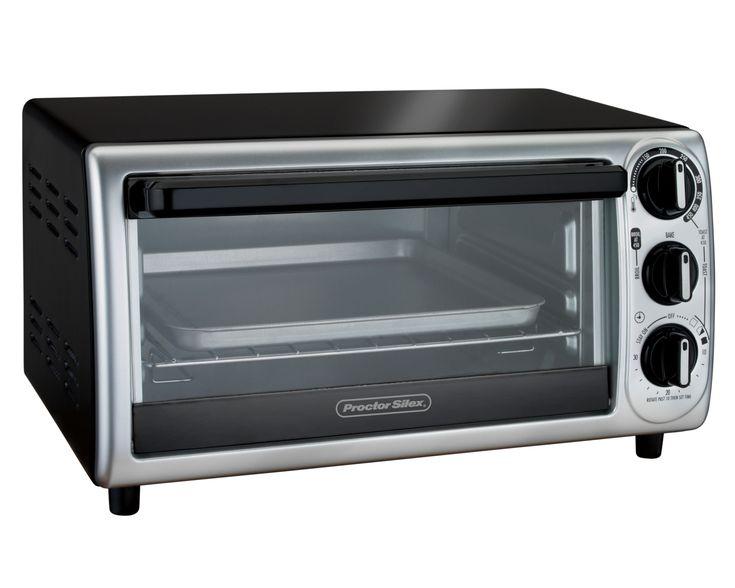 Proctor Silex Modern Toaster Oven, Black Stainless