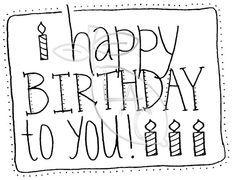 25 best Handletteren: verjaardag images on Pinterest