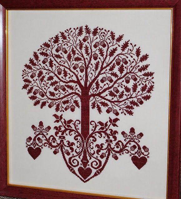 Картинки вышивки крестом схемы дерево жизни