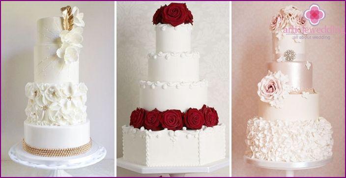 Tort de nunta elegant - idei de design cu imagini