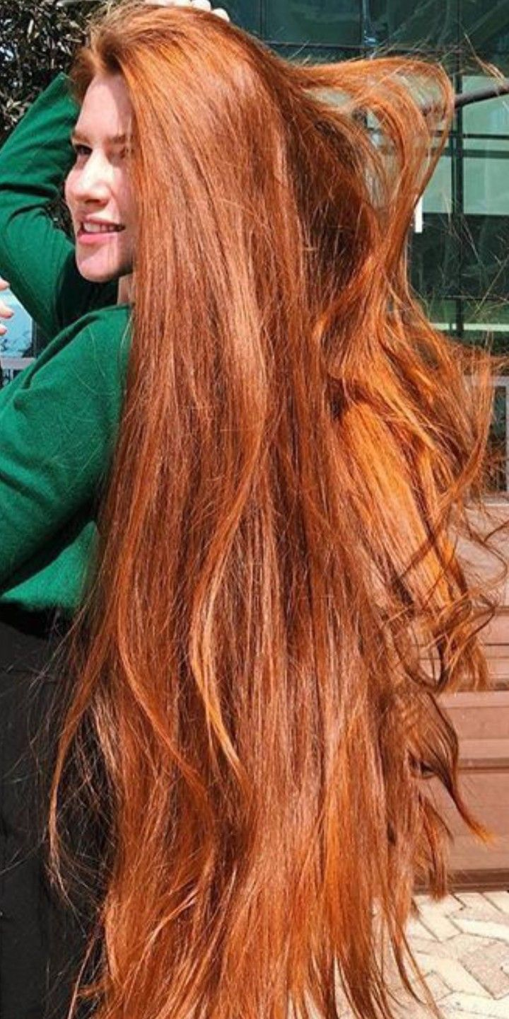 Yes Hair Working On My Next Foot Of Hair At 30 Inches Now Beautiful Red Hair Extremely Long Hair Long Hair Styles