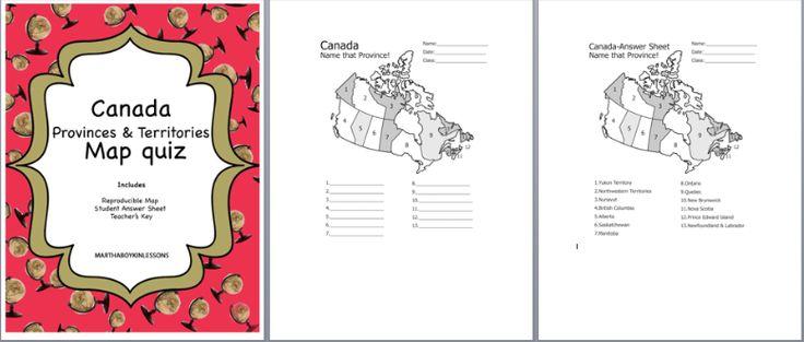Canada Province Capitals Map Quiz Game Canada Map Quiz Canada Map