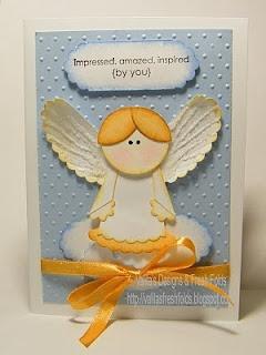 Valita's Designs & Fresh Folds: Angel punch art