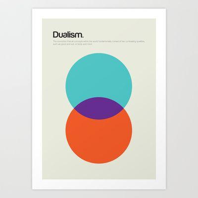 Dualism+Art+Print+by+Genis+Carreras+-+$17.00