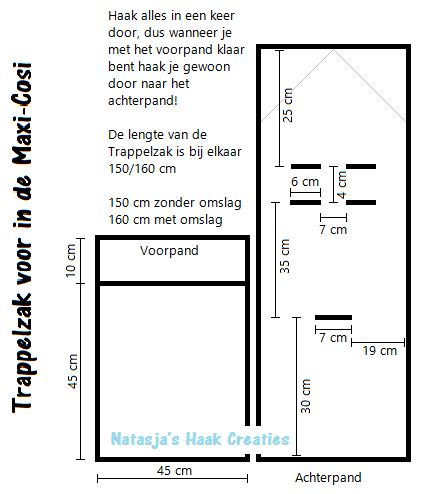 Gehaakte trappelzak - leuk kraamcadeau! - Breiclub.nl