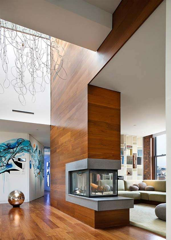 Fireplace in the middle of the wall? Yep, on my list
